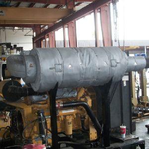 Exhaust-insulation